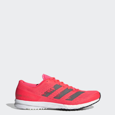 Men Running Pink Adizero Takumi Sen 6 Shoes