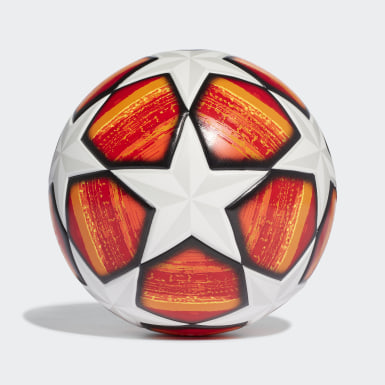 Men Football Orange UCL Finale Madrid Top Training Ball