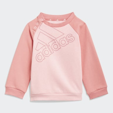 Kinder Athletics adidas Essentials Logo Trainingsanzug – Genderneutral Rosa