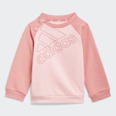 Completo felpa e pantaloni adidas Essentials Logo (Unisex) Rosa Bambini Athletics