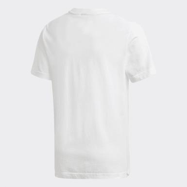Camiseta  Badge of Sport Must Haves Blanco Niño Yoga