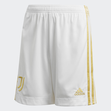 Youth 8-16 Years Football White Juventus Home Shorts