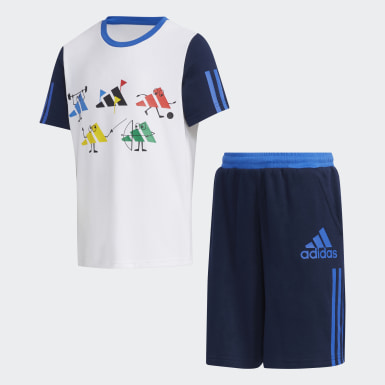 Kids Training White Tee Set
