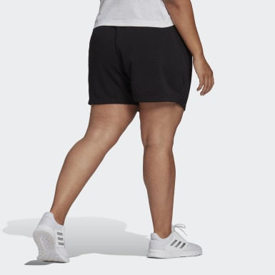 Essentials Slim Logo Shorts (Plus Size) Czerń