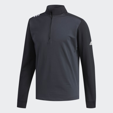 Men's Golf Grey 3-Stripes Core 1/4 Zip Sweatshirt