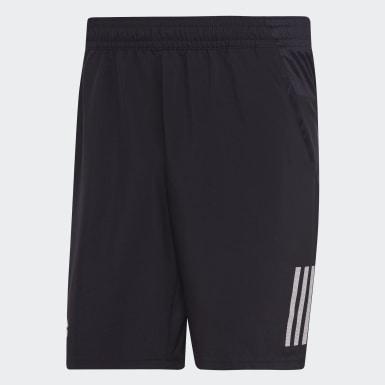 Muži Padel Tenis černá Šortky Club 3-Stripes 9-Inch
