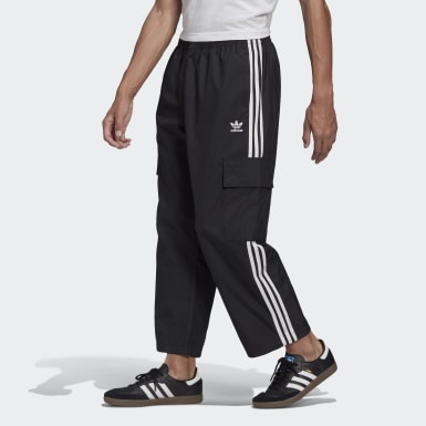 Men Originals Black Adicolor Classics 3-Stripes Cargo Pants