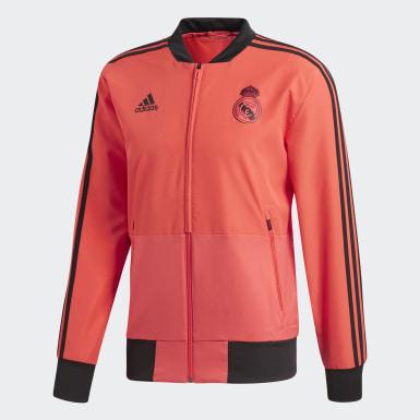 Mænd Fodbold Rød Real Madrid Ultimate Presentation jakke