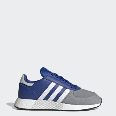 Dames Originals Blauw Marathon Tech Schoenen