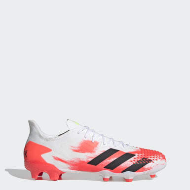 Men's Soccer White Predator 20.2 Firm Ground Cleats