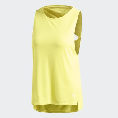 Playera Sin Mangas Chill Amarillo Mujer Training