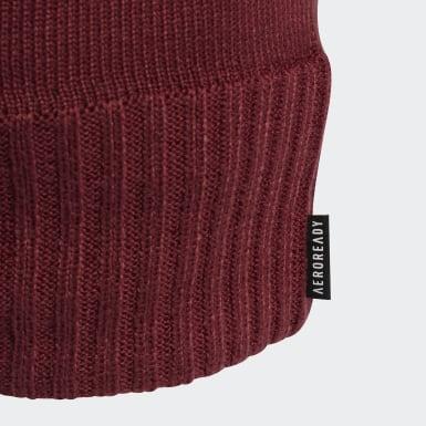 Running AEROREADY Half-Fleece-Lined Mütze Rot