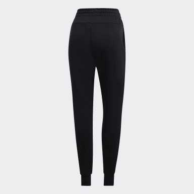 Women Training Black Essentials Solid Joggers
