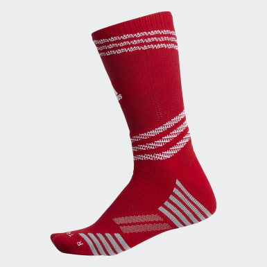Men's Running Red Speed Mesh Team Crew Socks