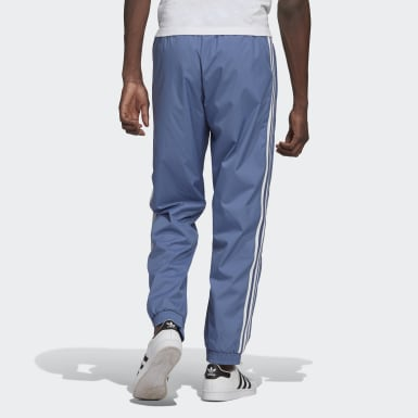 Men's Originals Blue Adicolor 3D Trefoil 3-Stripes Track Pants