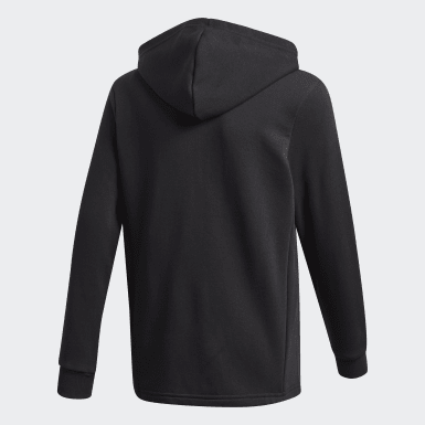 Youth Training Black Must Haves Logo Full-Zip Hoodie