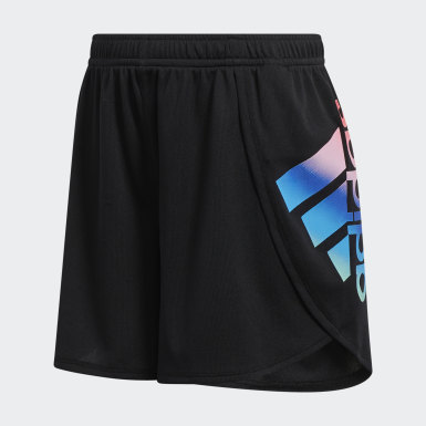 Youth Training Black Logo Shorts