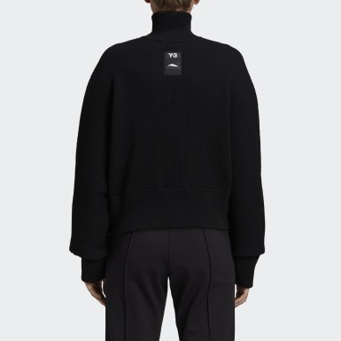 Women Y-3 Black Y-3 CH3 High Neck Sweatshirt