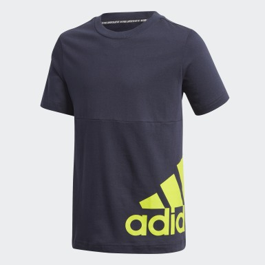 T-shirt Must Haves Big Logo Bleu Garçons Training
