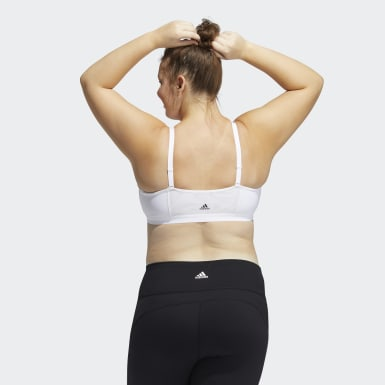 Women's Yoga White All Me Branded Bra (Plus Size)
