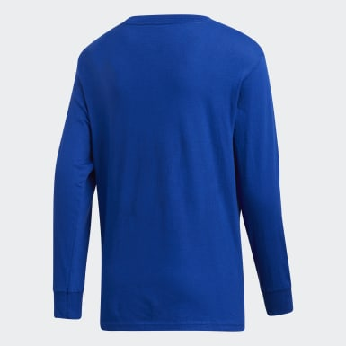 Youth Training Blue Y LS AMPLIFIER TEE -TEAM