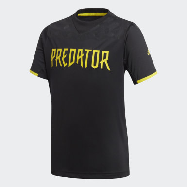 Maillot Football Inspired Predator AEROREADY noir Adolescents Entraînement