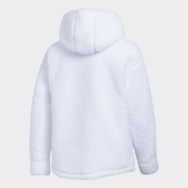 Youth Training White Sherpa Hood Pullover