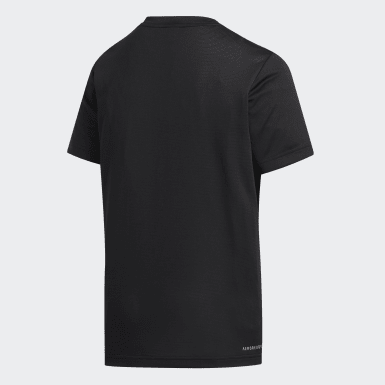 Youth Training Black Training Plain Tee