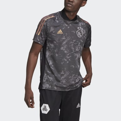 Men Football Black Ajax Amsterdam Ultimate Training Jersey