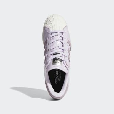 Frauen Originals Superstar Schuh Lila