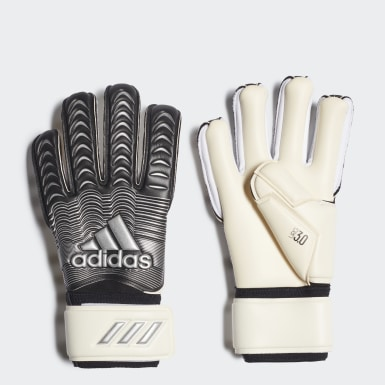 Football White Classic League Goalkeeper Gloves