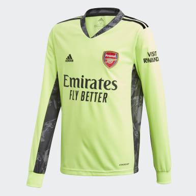 Børn Fodbold Grøn Arsenal 20/21 Away målmandstrøje