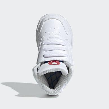 Kinder Basketball Hoops Mid 2.0 Schuh Weiß