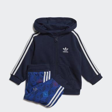Conjunto Polera con Capucha Azul Niño Originals