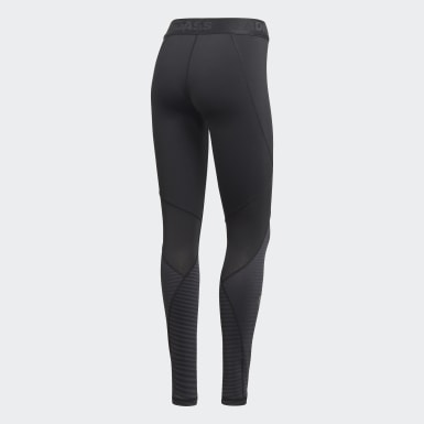 Women Winter Sports Black Alphaskin Sport Climawarm Leggings