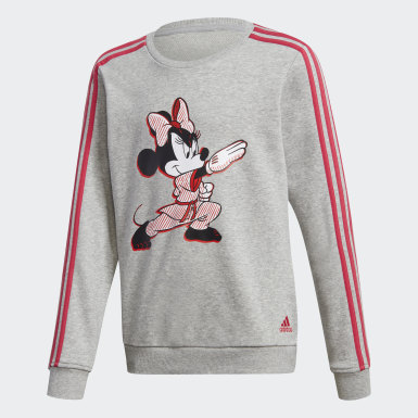 Kids 4-8 Years Training Grey Minnie Mouse Karate Tracksuit