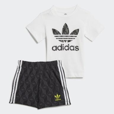 Infants Originals สีขาว ชุดเสื้อยืดและกางเกงขาสั้น