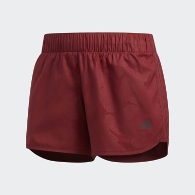 Shorts M10 Ready-to-Go Burgundy Mujer adidas by Stella McCartney
