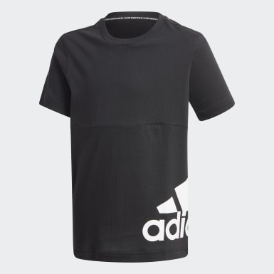 เด็กผู้ชาย Sport Inspired สีดำ เสื้อยืด Must Haves Big Logo