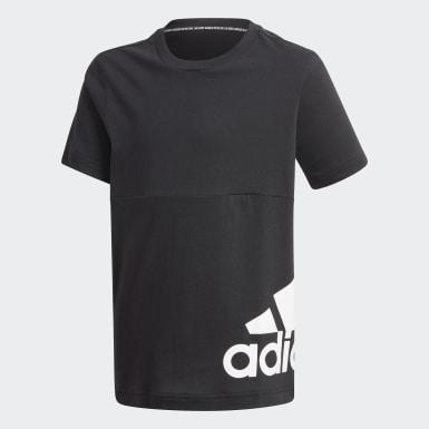 Boys Sport Inspired Black Must Haves Big Logo Tee