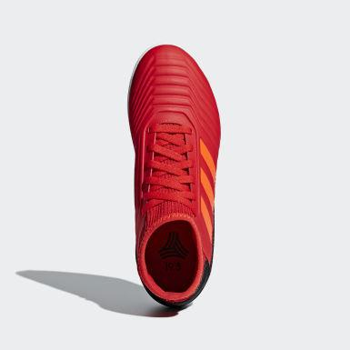Calzado de Fútbol Predator Tango 19.3 Bajo Techo Rojo Niño Fútbol