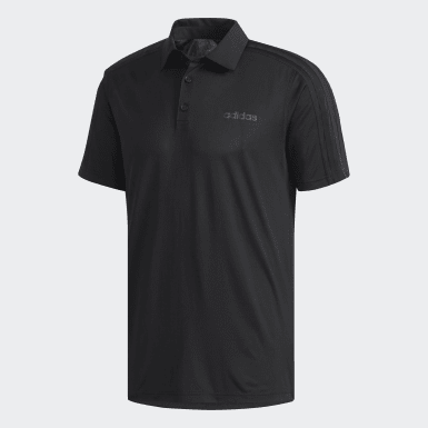 Men Training Black Design 2 Move Polo Shirt