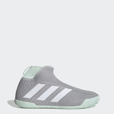 Tennis Grey Stycon Laceless Hard Court Shoes
