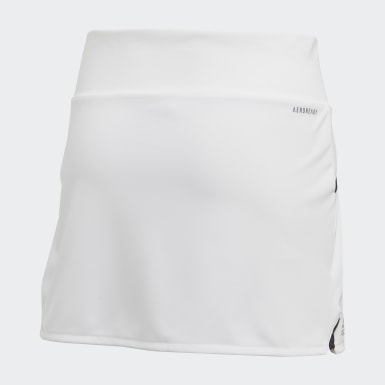 Girls Padel Tennis White Club Skirt