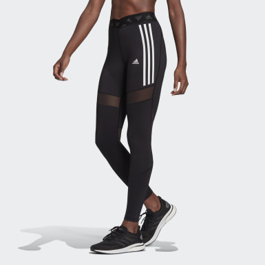Women Training Black Mesh Leggings