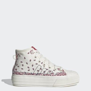 Sapatos de Plataforma Nizza RF Mid Branco Mulher Originals