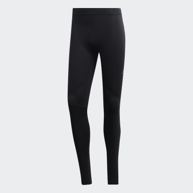 Men Running Black Saturday Long Tights