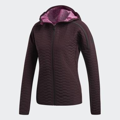 Kadın Koşu Bordo adidas Z.N.E. Winter Rüzgarlık