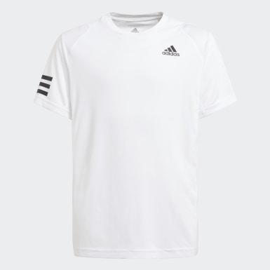Kluci Tenis bílá Tričko Club Tennis 3-Stripes