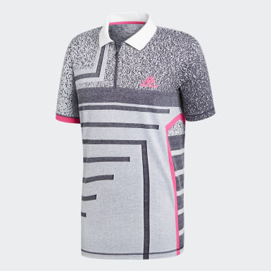 Mænd Tennis Hvid Seasonal polotrøje